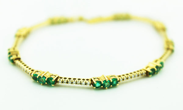 Emerald & Diamond Bracelet - Kuhn's Jewelers - 3