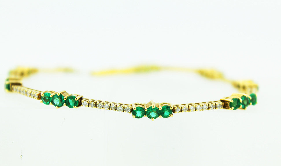 Emerald & Diamond Bracelet - Kuhn's Jewelers - 1