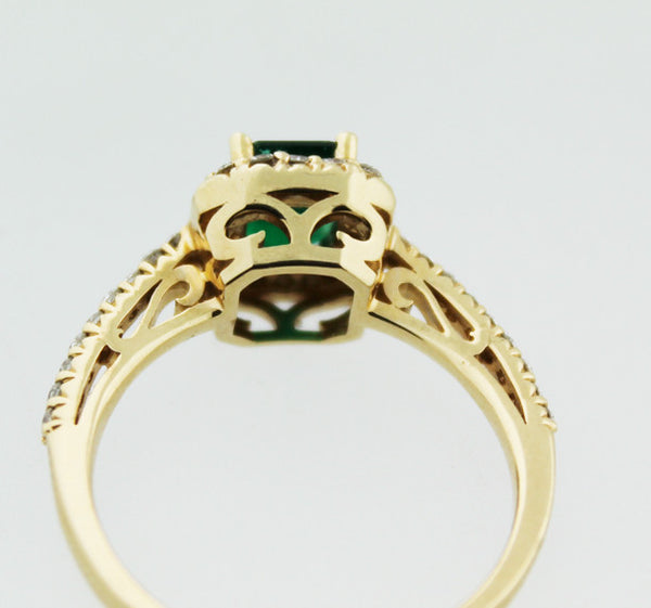 Emerald & Diamond Yellow Gold Ring - Kuhn's Jewelers - 4