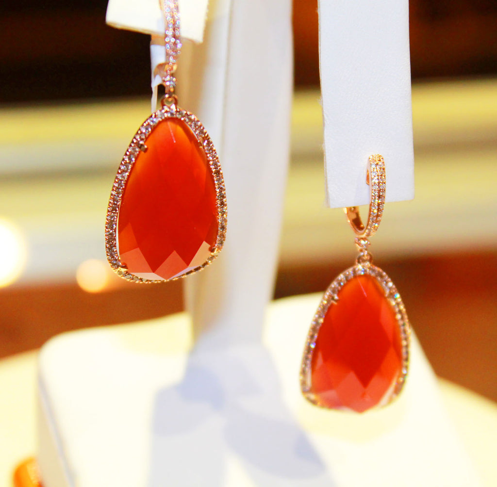 Red Orange Agate Earrings - Kuhn's Jewelers