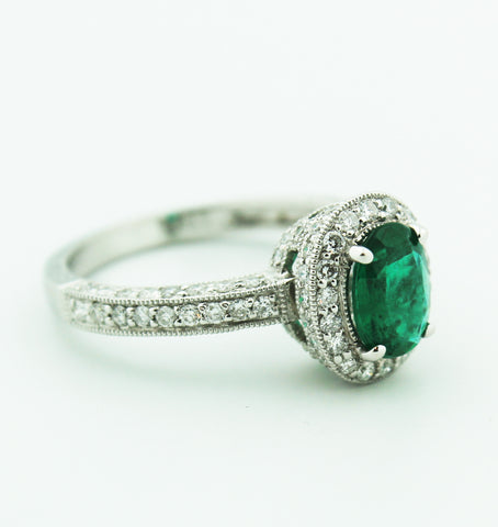 Emerald & Diamond Ring - Kuhn's Jewelers - 1