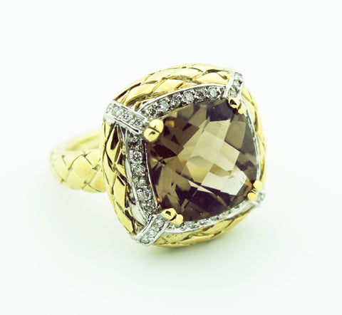Smokey Topaz & Diamond - Kuhn's Jewelers - 1