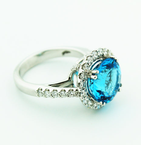 Blue Topaz & Diamonds - Kuhn's Jewelers - 2