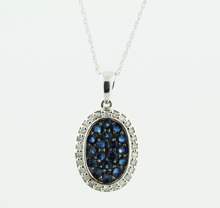 Diamond and Sapphire Pendant Necklace - Kuhn's Jewelers - 1