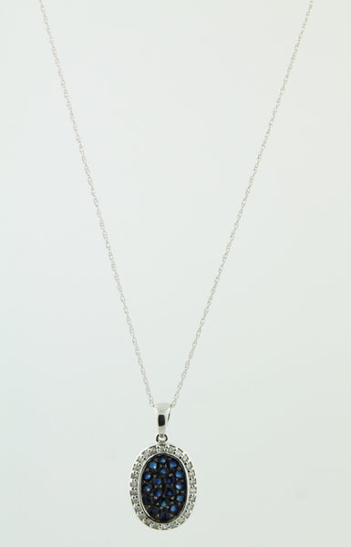 Diamond and Sapphire Pendant Necklace - Kuhn's Jewelers - 2
