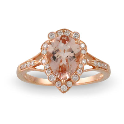 Doves - Little Bird Bridal Collection - 18K Rose Gold Ring
