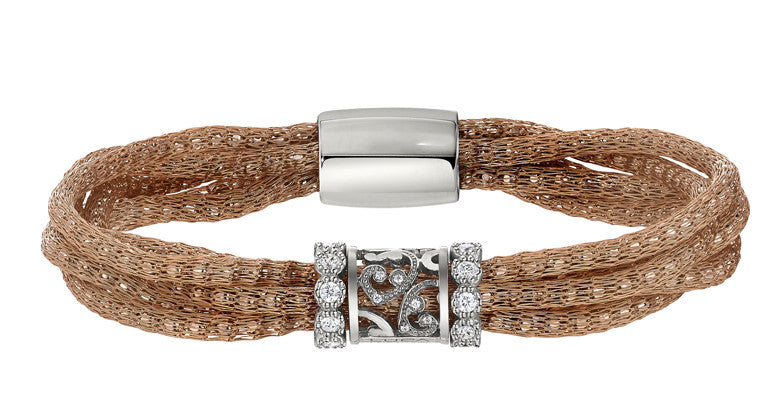 Luca Fancy Cage Weave Bracelet - Kuhn's Jewelers