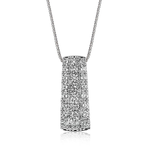 18K WG Diamond Pendant