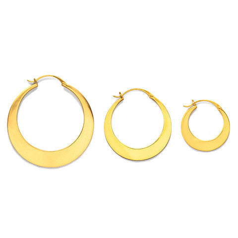 Luna Gold Medium Hoop Earrings - Kuhn's Jewelers - 2