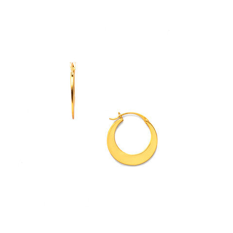 Luna Gold Medium Hoop Earrings - Kuhn's Jewelers - 1