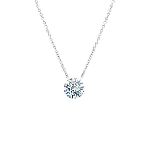 Lassaire Diamond shimmer Necklace - sterling silver & platinum bonded