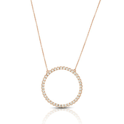 Doves - Yellow Gold Diamond Fashion Circle Pendant