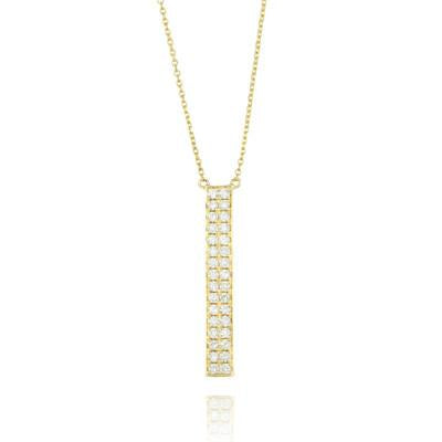 Doves - Yellow Gold Diamond Fashion Necklace