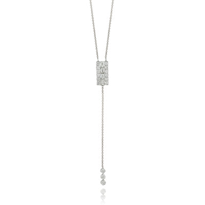 Doves - White Gold Diamond Fashion Necklace