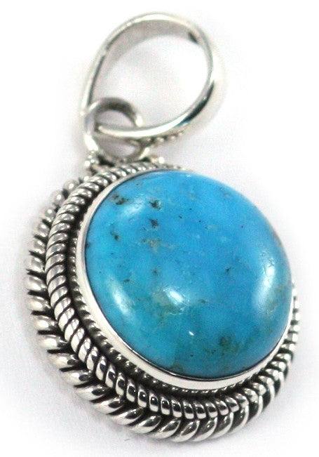 Sterling Silver Bali Tali Air Turquoise Pendant - Kuhn's Jewelers