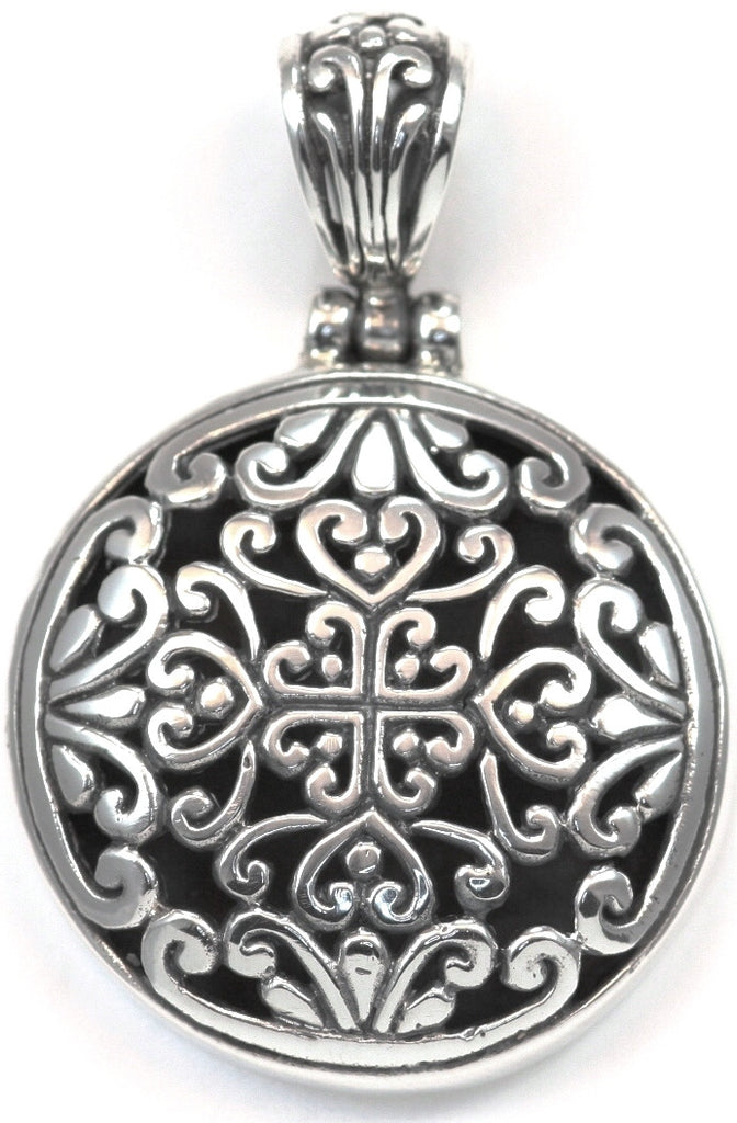 Sterling Silver Bali Round Pendant - Kuhn's Jewelers