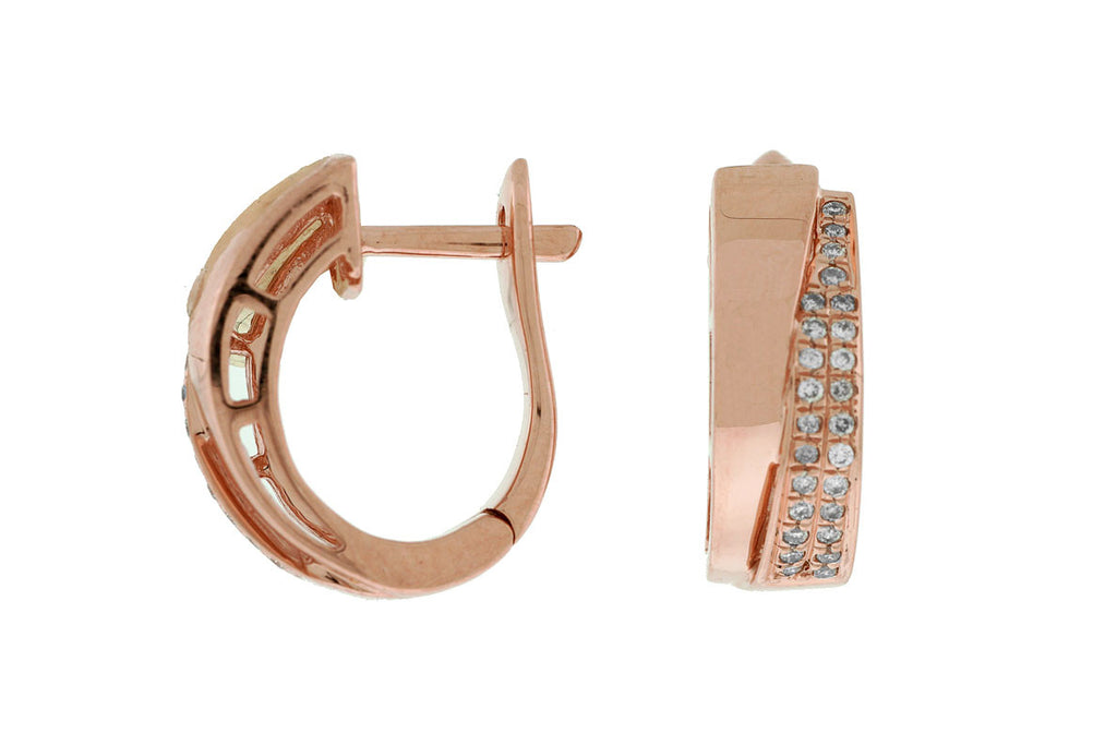 Diamond and Rose Gold Earrings - Kuhn's Jewelers