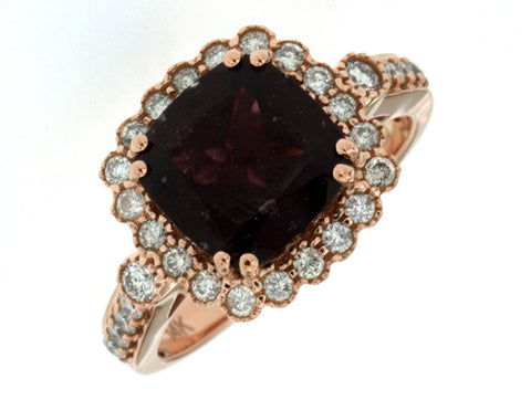 DIAMOND & RHODOLITE RING - Kuhn's Jewelers