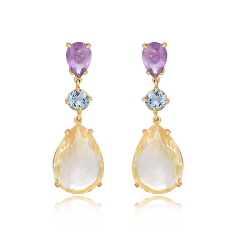 Dolce Vita Multi-Gemstone Drop Earrings - Kuhn's Jewelers