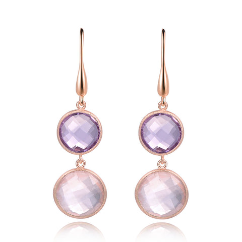 Dolce Vita Amethyst & Rose Quartz Earrings - Kuhn's Jewelers