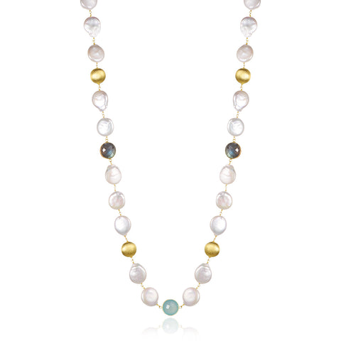 Dolce Vita Multi-Gemstone & Pearl Necklace - Kuhn's Jewelers