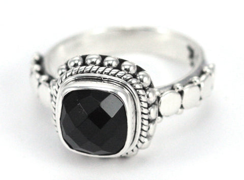 Black Onyx & Sterling Silver Ring - Kuhn's Jewelers