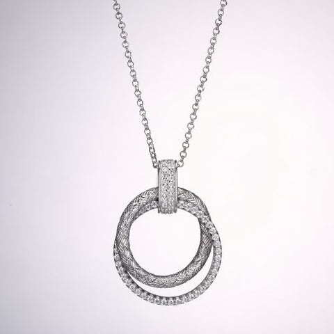 Double Circle of Love Pendant