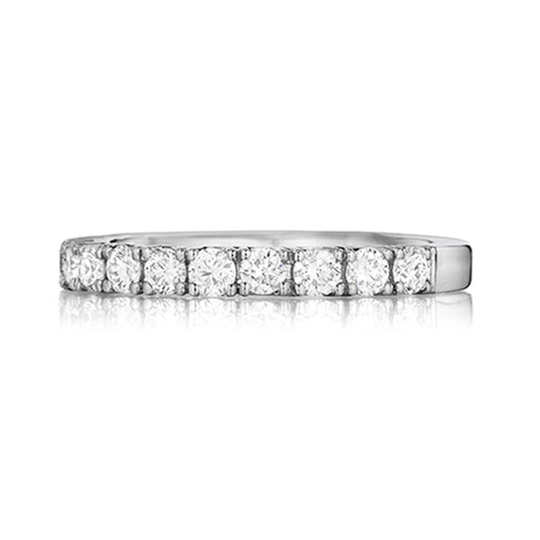 14K White Gold Pave Wedding Band - Henri Daussi