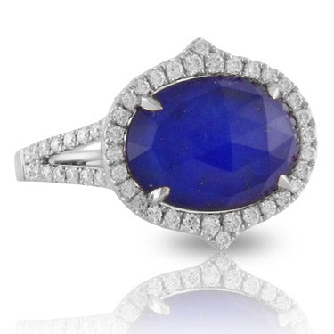 Doves - Royal Lapis Collection - 18K White Gold Ring