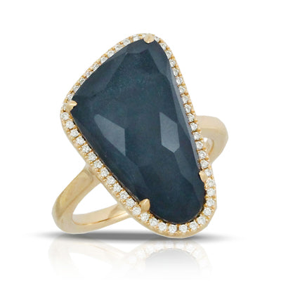 Doves - Midnight Ocean Collection - 18K Yellow Gold Ring