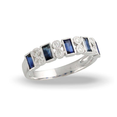 Doves - Azure Collection - Sapphire and Diamond Ring