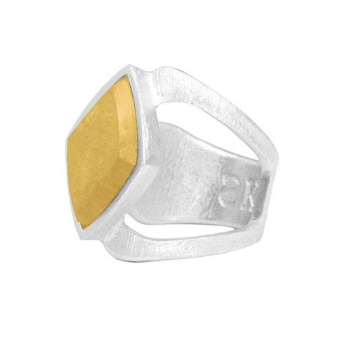 Luxe RING - GOLD METAL STONE - Kuhn's Jewelers