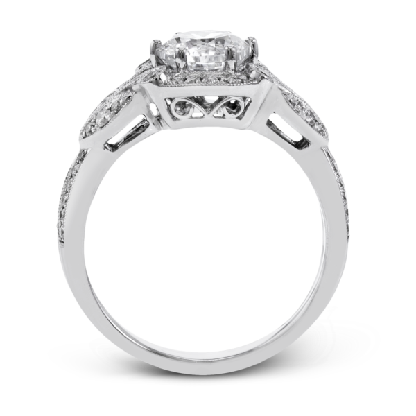 18K Diamond Halo Engagement Ring