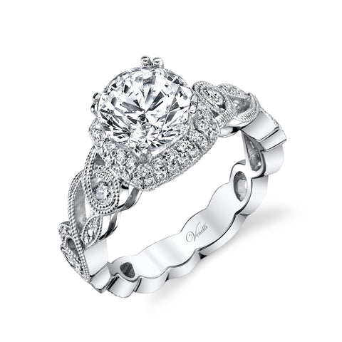 14K White Gold engagement ring - Kuhn's Jewelers