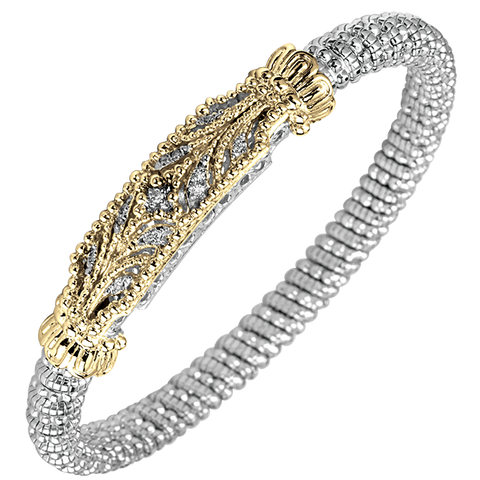 Vahan - 14K Gold & Sterling Silver Diamond Bracelet