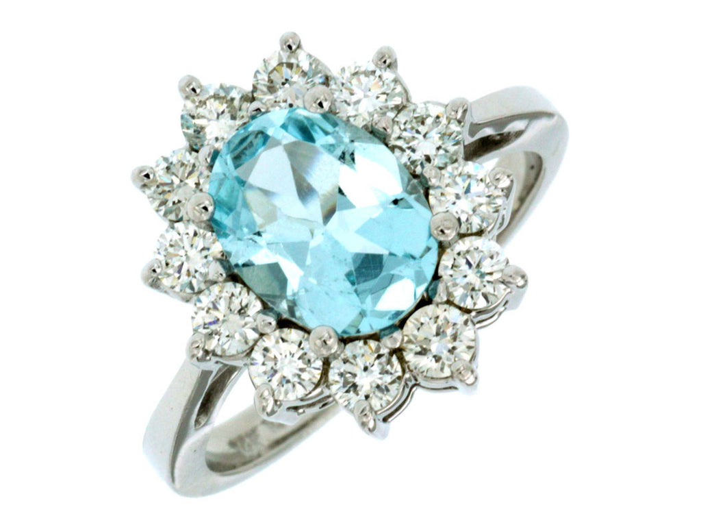 Diamond & Aquamarine Ring - Kuhn's Jewelers