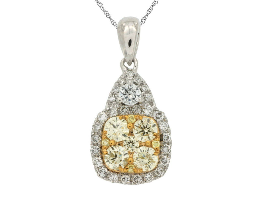 DIAMOND & YELLOW DIAMOND PENDANT - Kuhn's Jewelers