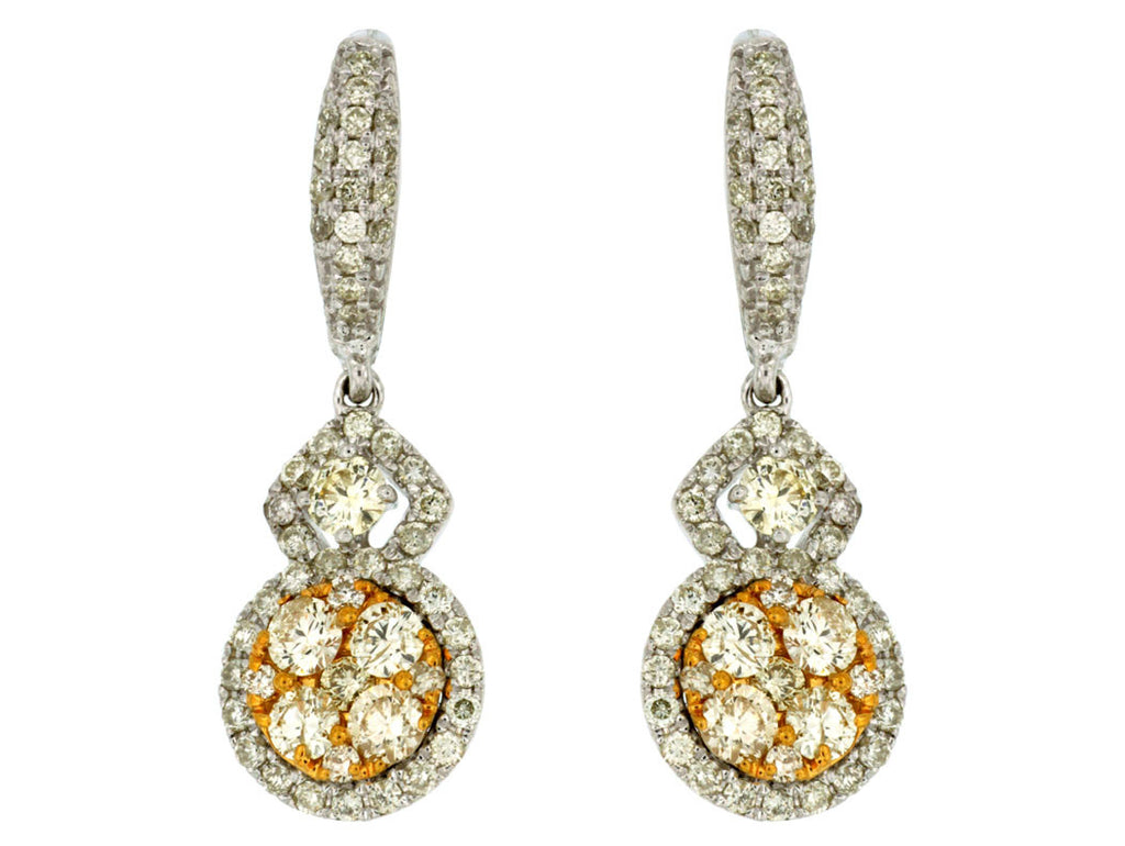 DIAMOND & YELLOW DIA EARRING - Kuhn's Jewelers