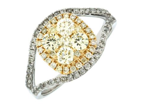 DIAMOND & YELLOW DIAMOND RING - Kuhn's Jewelers