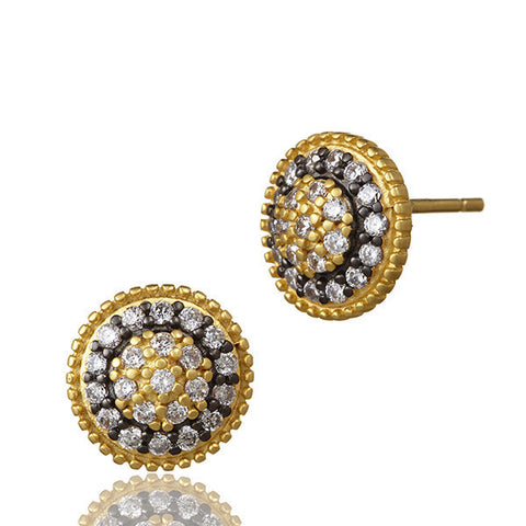 "THE STANDARDS ""Signature"" Paisley Pave Stud Earrings - Kuhn's Jewelers"