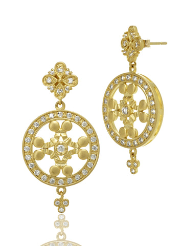 "THE STANDARDS ""Signature"" Icon Double Disc Drop Earrings - Kuhn's Jewelers"