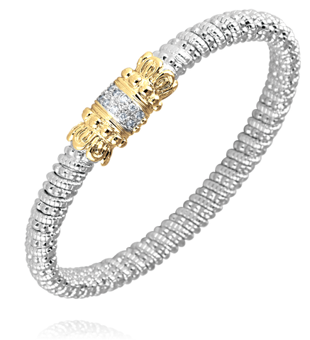 Vahan - 14K Gold & Sterling Silver, Diamond Bracelet - Kuhn's Jewelers - 20892D