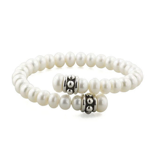 Sterling Silver and Pearl Pallini Coil Bracelet - Kuhn's Jewelers