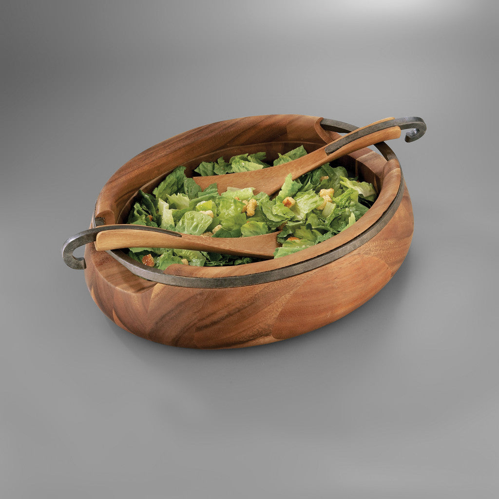 Anvil Salad Bowl with Servers - Kuhn's Jewelers