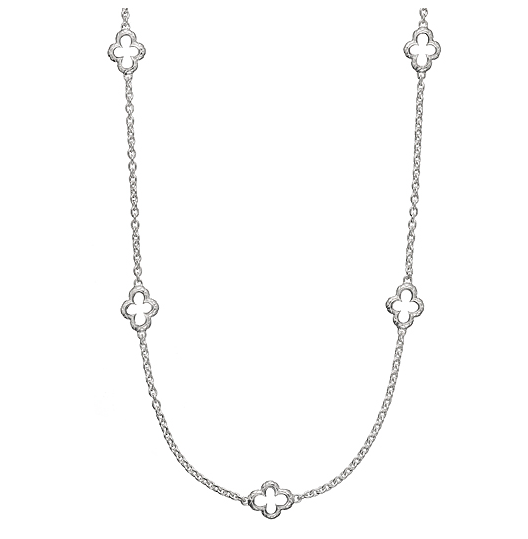 Quilted Quatrefoil Small Chain Link Necklace - Kuhn's Jewelers