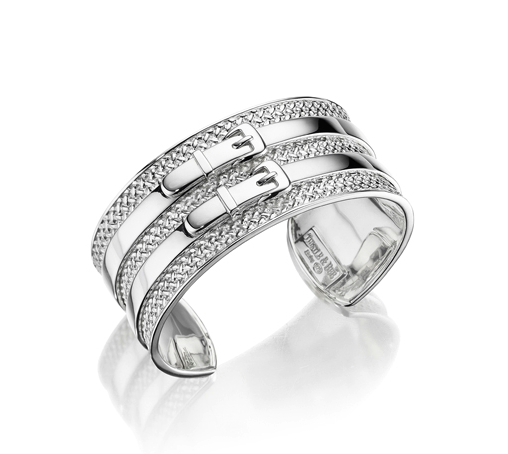 Double-Buckle Textured Cuff - Kuhn's Jewelers