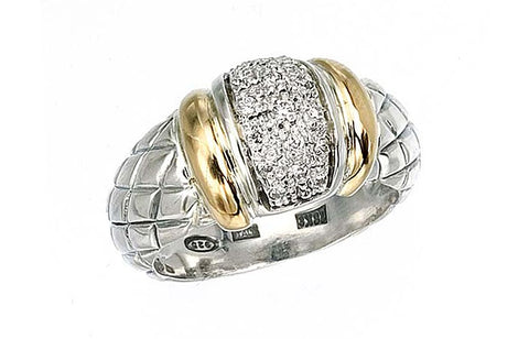 Alisa - Diamond Pave Weave Ring