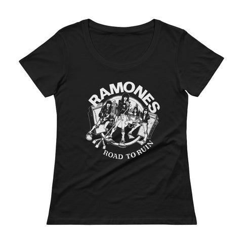 Ramones Road To Ruin Ladies' Scoopneck T-Shirt