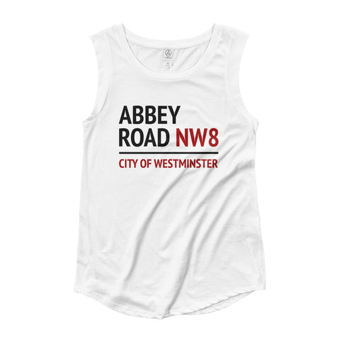 Beatles Abbey Road Ladies' Cap Sleeve T-Shirt