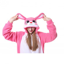 Load image into Gallery viewer, Pink Bunny Kigurumi Onesie Costume